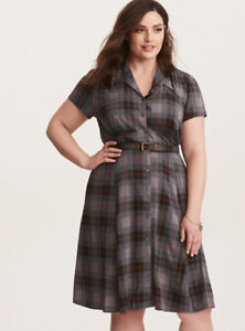 Details about Torrid Outlander Jamie Claire Fraser Plaid Tartan Belt Dress  Womens Plus Size 5X