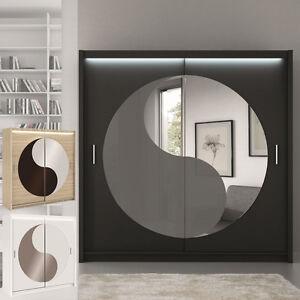 kleiderschrank lotos mit spiegel inkl led schiebet ren farbauswahl m bel ebay. Black Bedroom Furniture Sets. Home Design Ideas