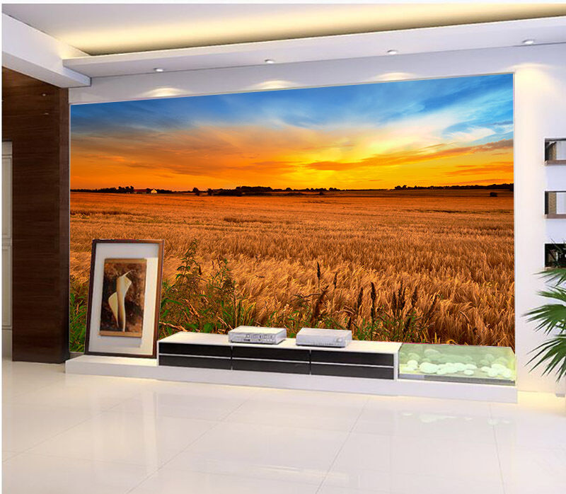 3D Sunset Paddy 62 Paper Wall Print Wall Decal Wall Deco Indoor Murals