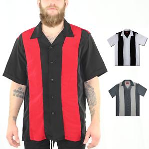 Mens-Short-Sleeve-Camp-Shirt-Retro-Bowling-Shirt-Bowling-Charlie-Sheen-Shirt