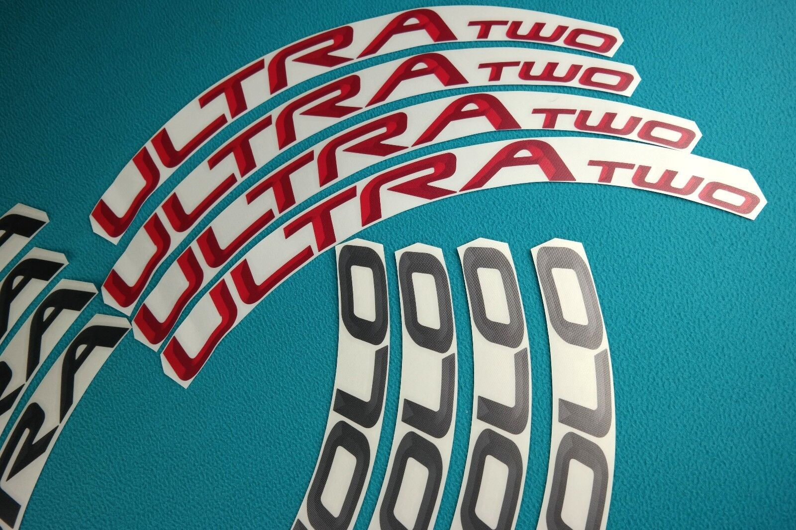 CAMPAGNOLO BORA ULTRA TWO DARK   RED  3D DESIGN REPLACEMENT RIM DECAL SET