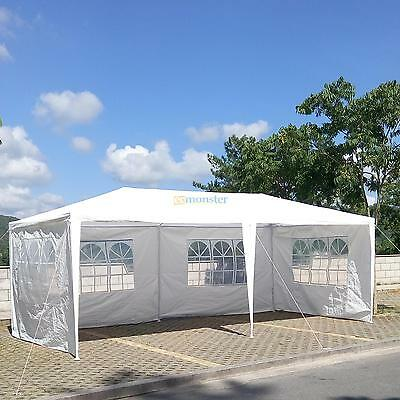 10'x20' White Outdoor Gazebo Canopy Wedding Party Tent 4 Removable Walls-UPGRADE