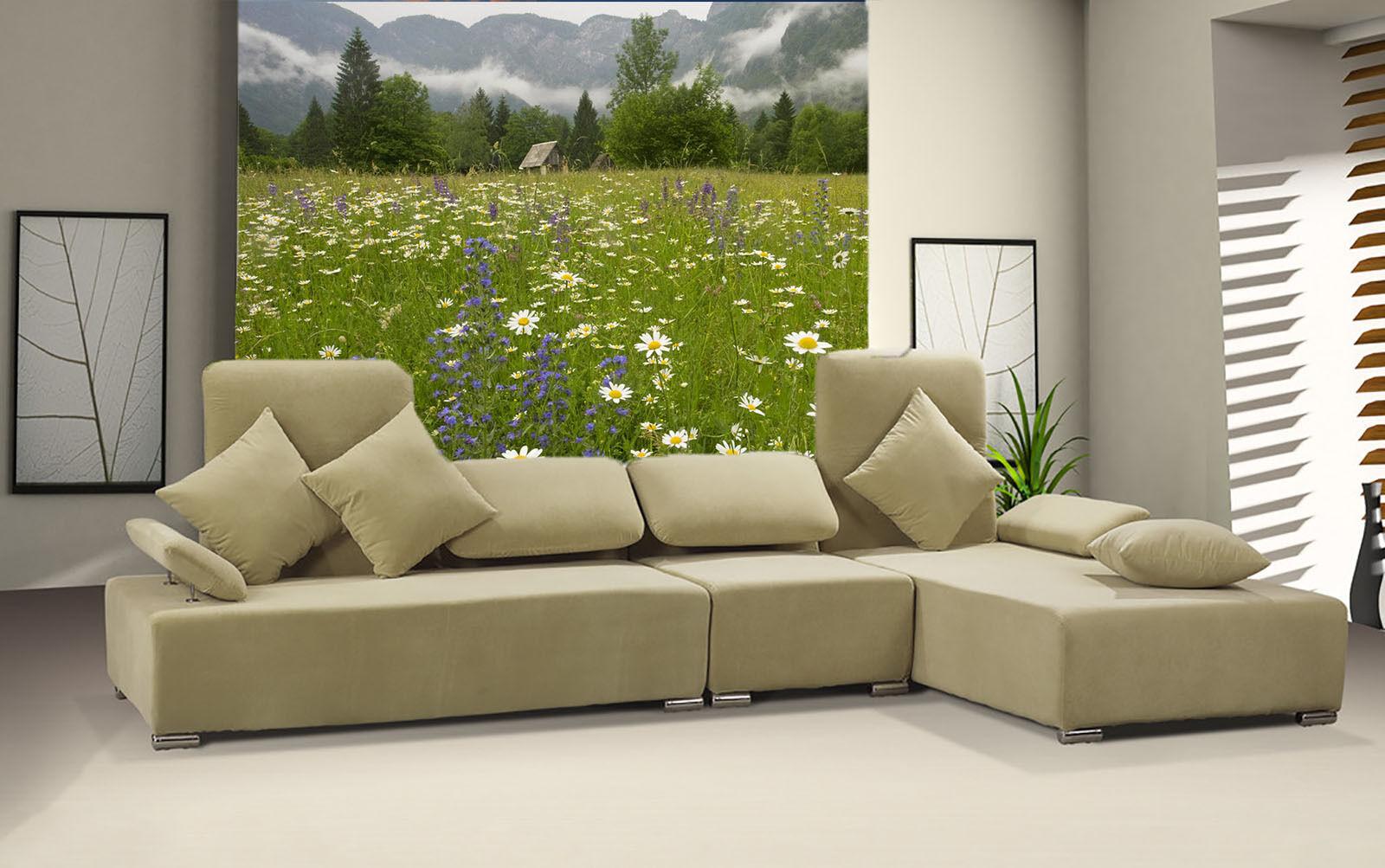 3D Landschaft im Nebel Garten Fototapeten Wandbild Fototapete BildTapete Familie