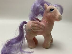 """Vintage My Little Pony G1 Year 4 """"Gusty"""" So Soft Pegasus Ponies Flocked 1986"""