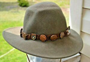 12-Vintage-Metal-Ducks-Unlimited-Signed-Sponsor-Pins-Leisure-Felt-Wool-Hat