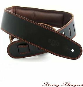 DSL-GEG25-15-2-2-5in-Quality-Leather-padded-Guitar-strap-Black-Brown