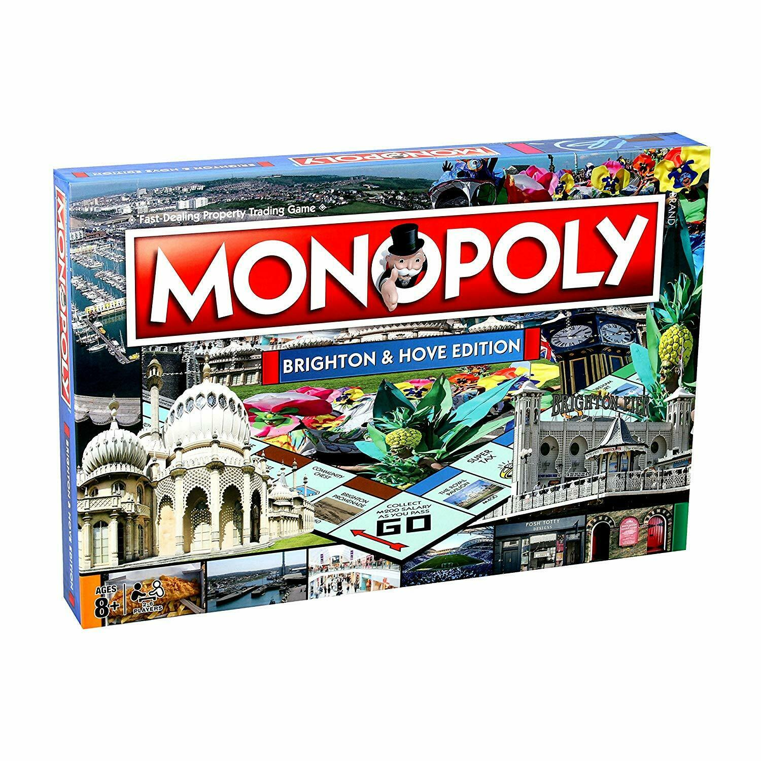 Monopoly - Brighton & Hove Monopoly Board Game - 029704 Limited Edition New