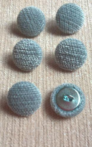 Tela De Tapicería Chenille Terciopelo 30L//19mm cielo cubierto botones Craft Azul//Gris