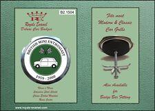 Royale Coche Clásico Insignia de la parrilla-británica Mini entusiasta de 1959 a 2000-B1.1504