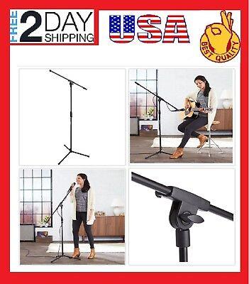 Microfono Stand Paral Pedestal Atril Soporte Boom Holder Tripode