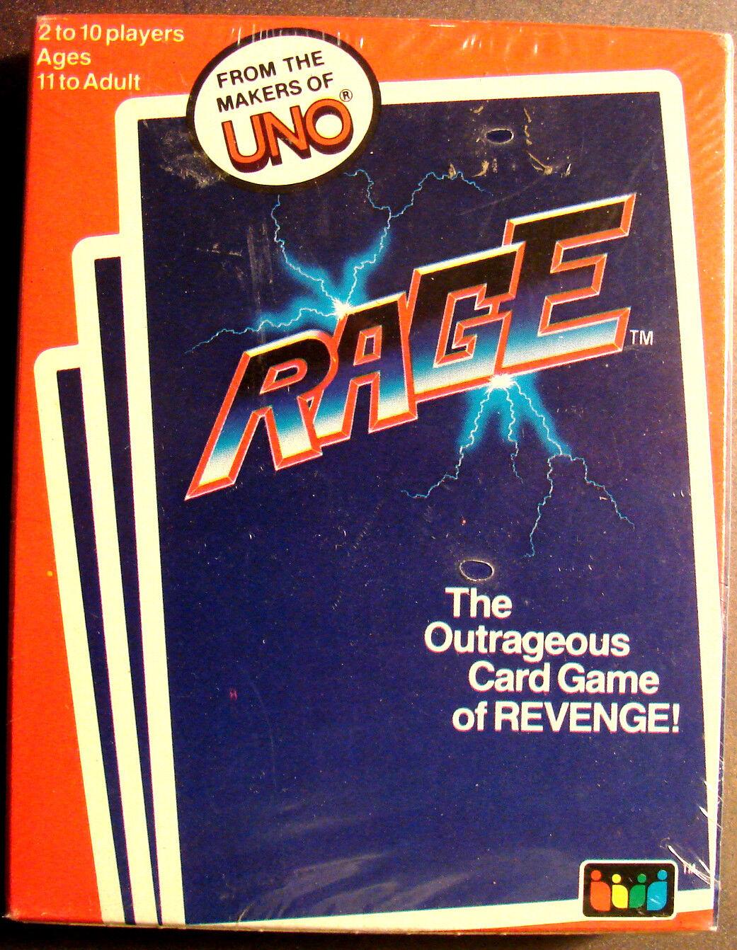 Original 1983 uno Rage Juego Caja Sellada de Fábrica todavía plástico envuelta