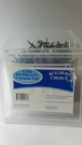 #10D HOT DIP GALVANIZED COMMON NAIL 5 POUNDS