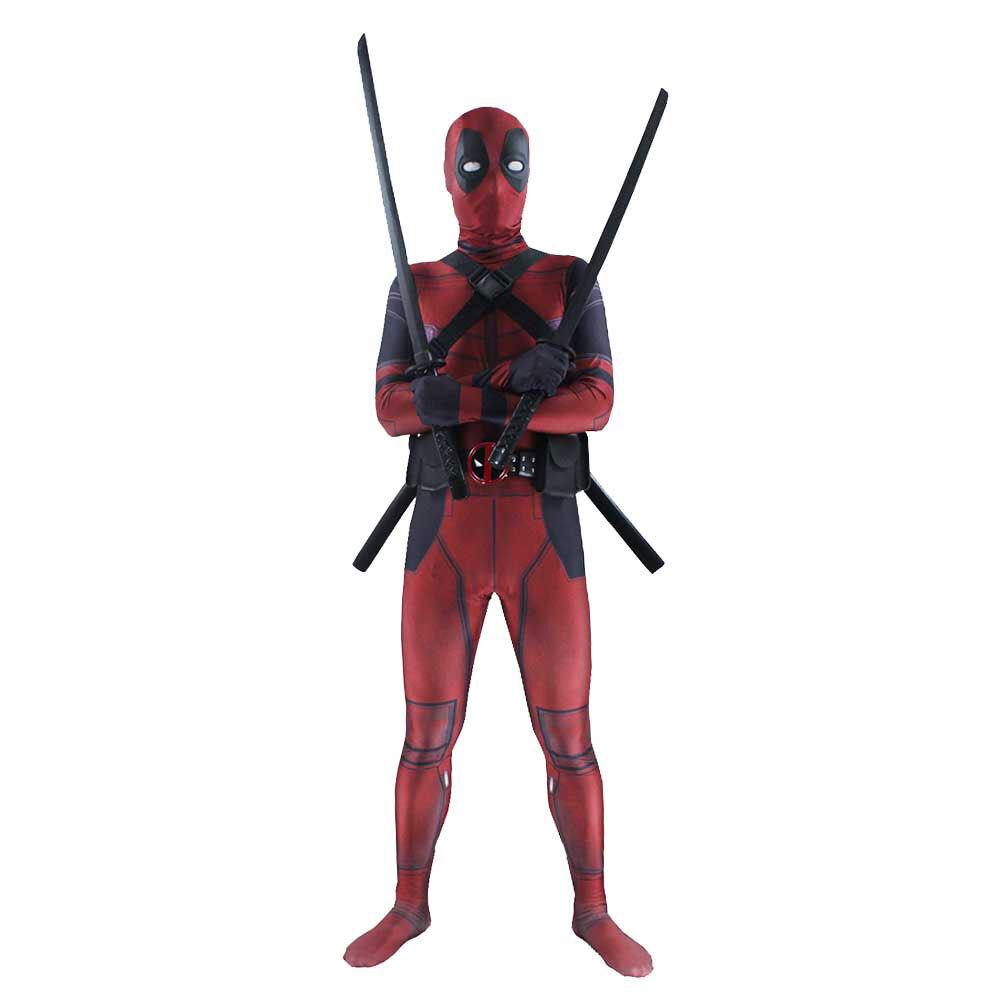 Deadpool - Adult Man Spandex Lycra Zentai Bodysuit Halloween Cosplay Suit Costume
