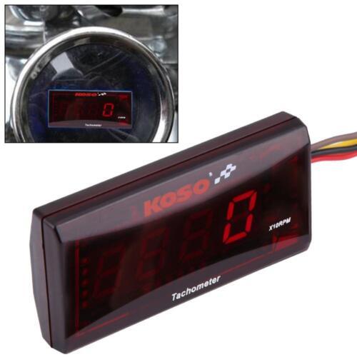 Motorcycle Red Backlight LED Digital Tachometer 20000RPM for Honda Yamaha Suzuki