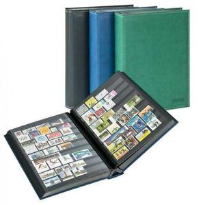 Lindner-1195-B-Einsteckbuch-Diamant-60-schwarze-Seiten-blau