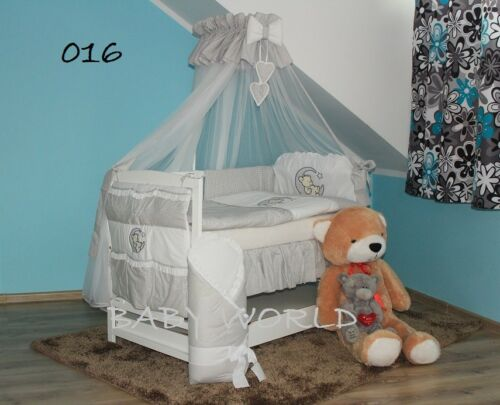 10-PCS EMBROIDERED BEDDING EXTRA BARRIER BABY BEARS COT MATTRESS