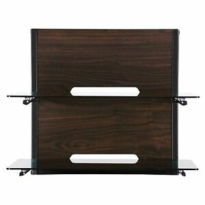 Fitueyes Tv Stand Floating Wall Mount With Wood Grain Media Center