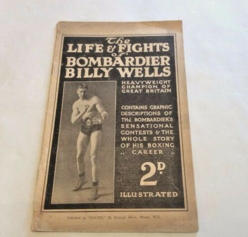 Rare The Life & Fights of Bombardier Billy Wells Circa 1912