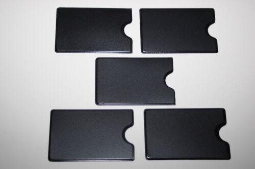 5 STÜCK KARTENHALTER matt schwarz ultradünn  Karten Hülle