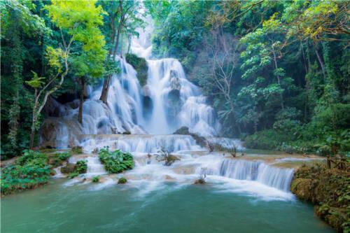 Kuang Si Waterfalls Luang  Full Wall Mural Photo Wallpaper Print Home 3D Decal