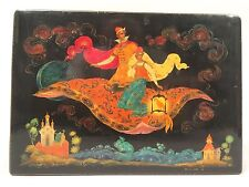 PALEKH LARGE RUSSIAN LACQUER BOX MAGIC FLYING CARPET