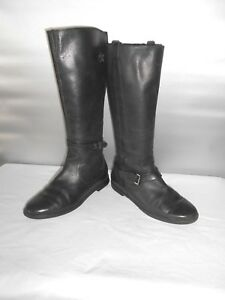 d367fdfc06d5 Women s Cole Haan Air Black Leather Riding Knee High Boots Size 7 B ...