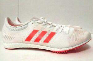 Pionero Hizo un contrato hazlo plano  Adidas Adizero Avanti Track Spikes White Long Distance Mens BA9878 Sz 12M |  eBay