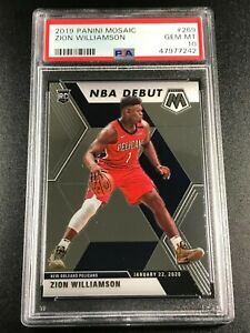 ZION-WILLIAMSON-2019-PANINI-MOSAIC-269-ROOKIE-RC-PSA-10-PELICANS-NBA-A