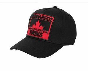 668bfaf1307c98 Dsquared2 Baseball Cap HAT Icon RARE Black Dsquared Cap Twins Canada ...