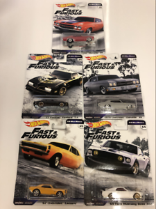 Hot-Wheels-Fast-And-Furious-5-Voiture-Set-GBW75-Real-Riders-Neuf