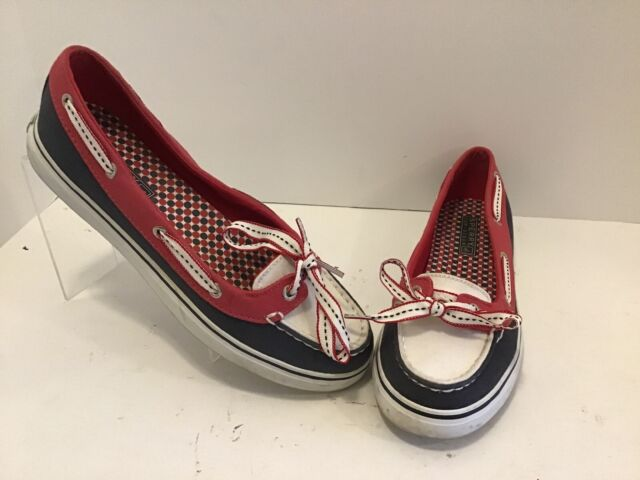 Womens Sperry Top Sider Boat Shoes Red