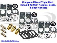 Polaris Mikuni Carburetor Rebuild Kit-Needle/Seat Carb Base Gasket SL 650 750