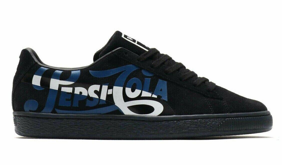 Puma Suede Classic x Pepsi Black bluee White Men SZ 8 - 12