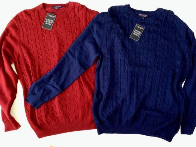 Roundtree & Yorke Sweater Men's Large Blue 100 Cotton