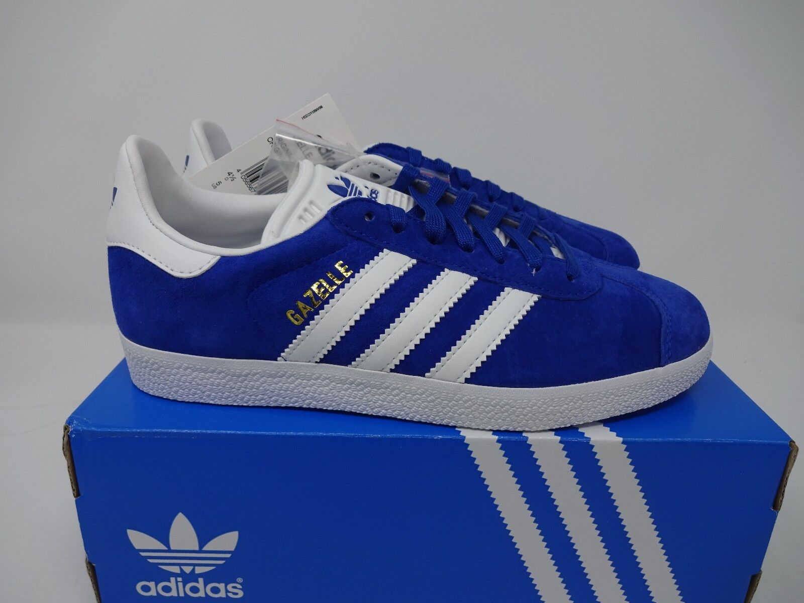 super popular 2e0fa 347ee ADIDAS GAZELLE TRAINERS - ROYAL Blau Weiß BNIB S76227 UK 4 + 4.5 + 5.5  S76227 BNIB 49a45e