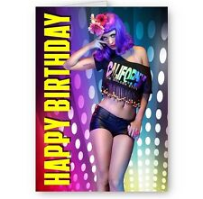 Katy Perry A5 Happy Birthday Card with Envelope