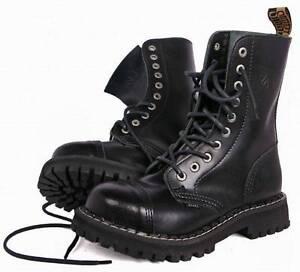 BRITISH-RANGERS-BOOTS-BLACK-LEATHER-COMBAT-HIGH-LEG-MENS-ARMY-10-HOLES