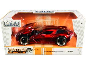 2009-Chevrolet-Corvette-Stingray-Concept-Rojo-Met-1-24-Modelo-Diecast-Jada-Escala-97467