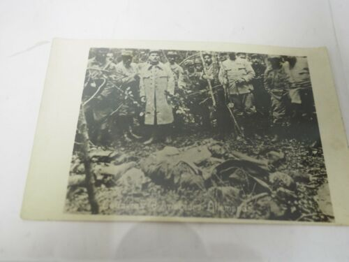 WWI Cadavras d'Avialeurs Allemands Real Photo Postcard RPPC