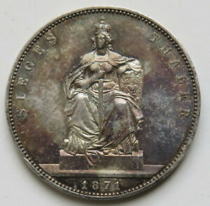 Brandenburg-Preussen-Wilhelm-I-Taler-1871-A-auf-den-Sieg-sogenannter-Siegestaler