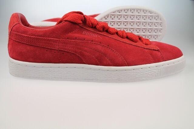 Puma Suede Classic Eco rojo formadores UK Talla 6 6.5 7 8 9 9,5 352634 31