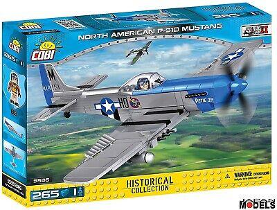 Bello P-51d Mustang 265pz World War Ii Cobi 5536 Costruzione Mattoncini Blocks New Lieve E Dolce