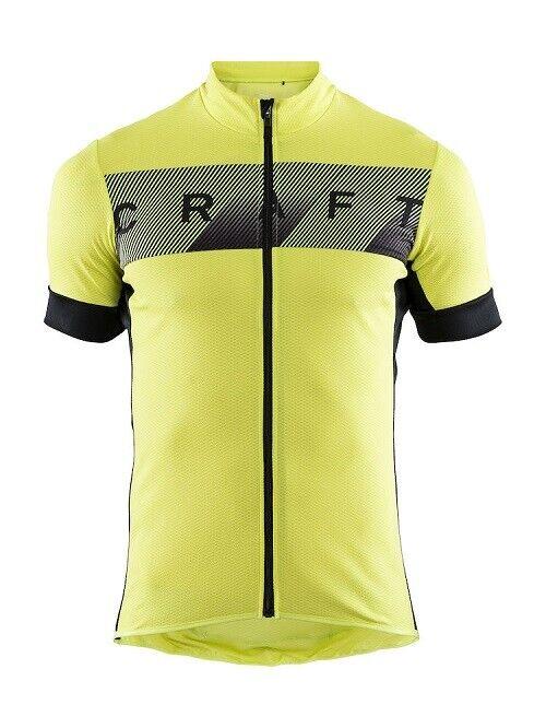Craft Reel JERSEY COMODA BikeMaglia per uomo in giallonero Taglia XL