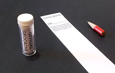 Geocache Waterproof Scrolls for caches GPS geocaching.