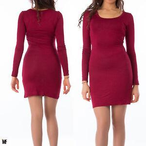 official photos d9e0f c26a6 Dettagli su vestito vestitino donna abito aderente tubino maxi pull stretch  maglia 00788