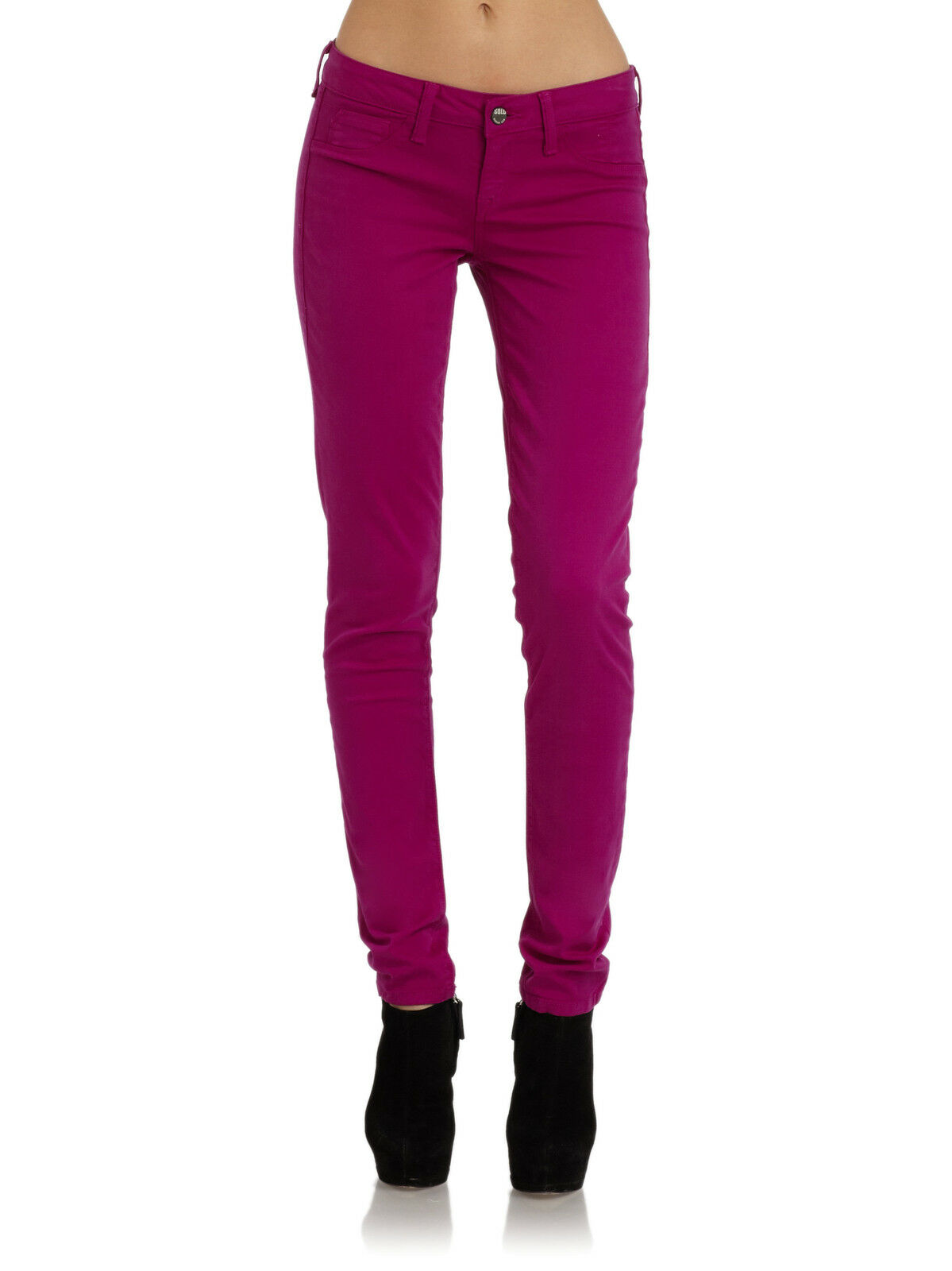 NWT SOLD DESIGN LAB JEANS WOMEN Sz26 SOHO SUPER SKINNY LEG IN PURPLE