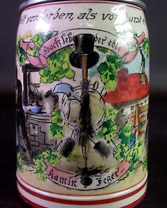 alter Bierkrug für den Kaminkehrer - Marzi & Remy Westerwälder Steinzeug