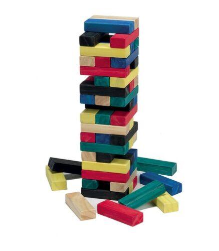 Jenga torre colorata in legno  GG95003  Grandi giochi