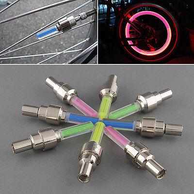 8 xLED Ventilkappen Speichenlicht bunt für Fahrräder Autos Fahrrad Ventil Licht