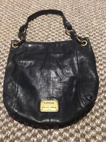 Hobo handtas zwart lederen draagtas Fossil nw8Nvm0